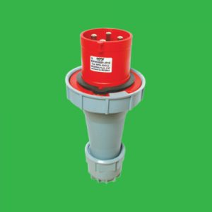 Phích cắm di động có kẹp giữ dây 3P+E 125A Cấp độ bảo vệ:IP67