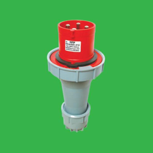 Phích cắm di động có kẹp giữ dây 3P+E 63A Cấp độ bảo vệ:IP67