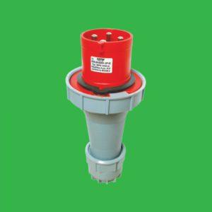 Phích cắm di động có kẹp giữ dây 3P+N+E 125A Cấp độ bảo vệ:IP67