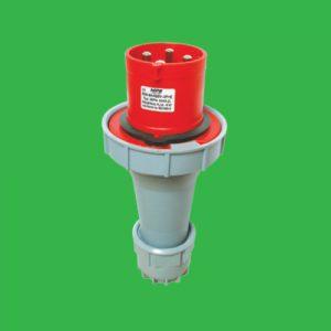 Phích cắm di động có kẹp giữ dây 3P+N+E 63A Cấp độ bảo vệ:IP67