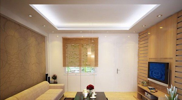 đèn led âm trần phòng khách